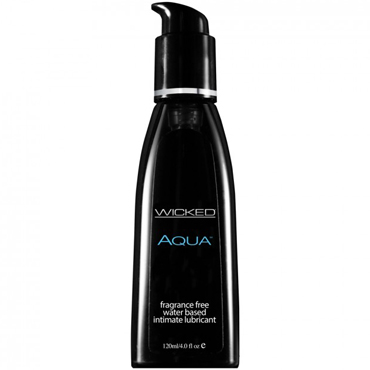 Wicked Aqua Fragrance Free, 120 мл Смазка на водной основе без отдушек смазка magic eye gay 360ml