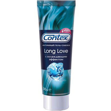 Contex Long Love, 30 мл Охлаждающий лубрикант-пролонгатор sexus funny five вибратор оранжевый на присоске 5 режимов вибрации