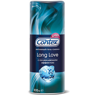 Contex Long Love, 100 мл Охлаждающий лубрикант-пролонгатор contex green 100 мл лубрикант с антибактериальным эффектом