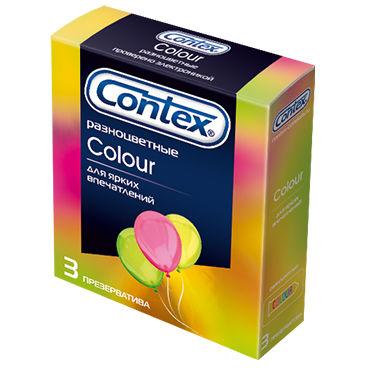 Contex Colour, 3 шт Презервативы разноцветные contex classic 3 шт презервативы классические