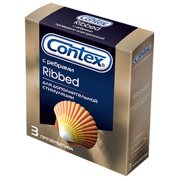 Contex Ribbed, 3 шт Презервативы с кольцами p wet fun flavors tropical fruit explosion 10 vk