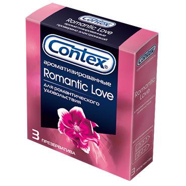 Contex Romantic Love, 3 шт Презервативы ароматизированные веревка 5м голубой