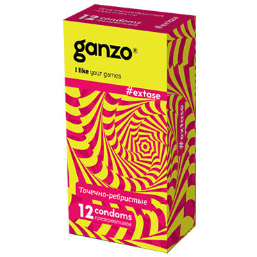 Ganzo Extase Презервативы c кольцами и пупырышками livco corsetti subirata 15 den чёрный колготки subirata 15 den чёрный
