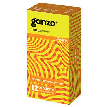 Ganzo Juice Презервативы ароматизированные платьице have fun princess черное из узорчатой ткани с кружевным бюстье