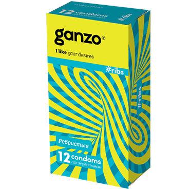 Ganzo Ribs Презервативы с ребрышками toyfa насадка фиолетовая с вибрацией