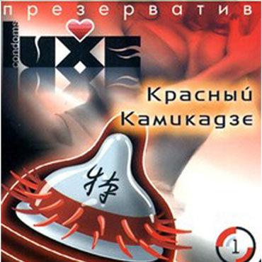 Luxe Красный Камикадзе Презервативы с усиками joydrops enhancement 5 мл возбуждающая смазка для женщин саше