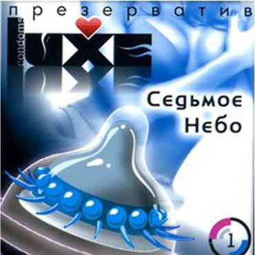 Luxe Седьмое Небо Презервативы с усиками podium сбруя на фаллос и мошонку 5 колец