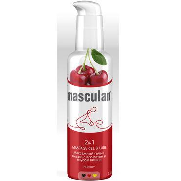 Masculan Massage Gel&Lube Cherry, 130 мл Средство 2в1 с запахом и вкусом вишни aquaglide cherry 100 мл лубрикант на водной основе с ароматом вишни