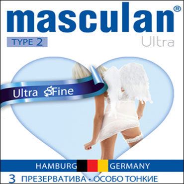 Masculan Ultra Fine Презервативы ультратонкие с обильной смазкой веревка 5м голубой