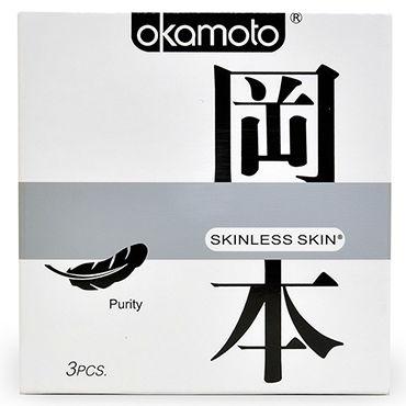 Okamoto Skinless Skin Purity Классические презервативы для максимально естественных ощущений комплект бюстгалтер мини юбка стринги
