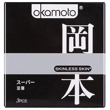 Okamoto Skinless Skin 3 in 1 Микс из презервативов Purity, Super Lubricated и Vanilla lifestyles skyn extra lubricated