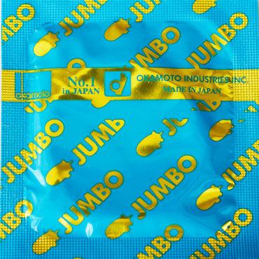 Okamoto Jumbo Презервативы увеличенного размера чулки с ажурной резинкой черный s m