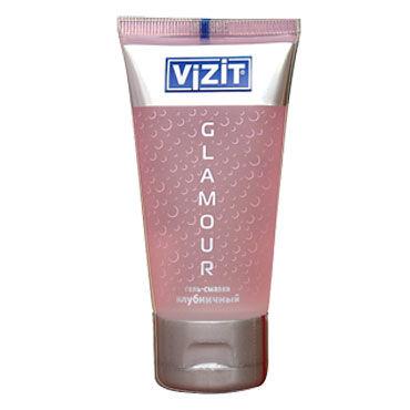 Vizit Glamour, 60 мл Лубрикант с ароматом клубники wicked лубрикант со вкусом вишневого ликера aqua cherry cordial 60 мл
