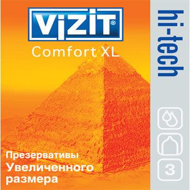 Vizit Hi-Tech Comfort XL Презервативы увеличенного размера комплект piedade l xl