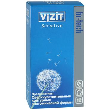 Фото - Vizit Hi-Tech Sensitive Презервативы особой анатомической формы брелок многофункциональный hi tech dt 377