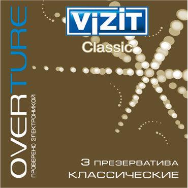 Vizit Overture Classic Презервативы классические масло интимное массажное shunga полночный щербет 100 мл