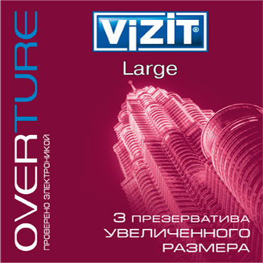 Vizit Overture Large Презервативы увеличенного размера vizit overture classic презервативы классические