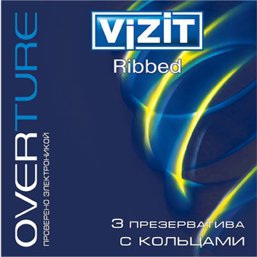 Vizit Overture Ribbed Презервативы с кольцами презервативы визит overture классика 3шт