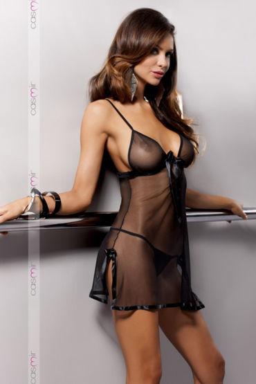 Casmir Kea, черная Откровенная сорочка и стринги casmir linda corset