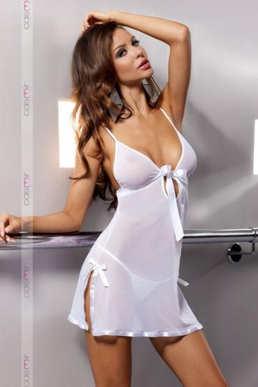 Casmir Kea, белая Откровенная сорочка и стринги casmir linda corset