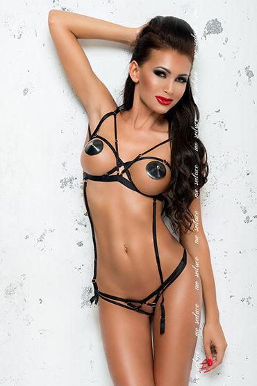 Me Seduce Maya, черный Откровенный комплект из эластичных лент me seduce maya черный откровенный комплект из эластичных лент