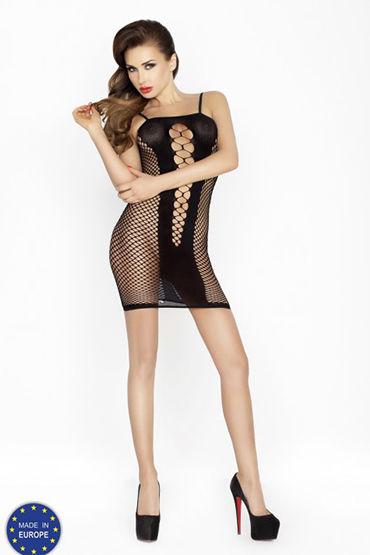 Passion Соблазн, черное Платье в сетку le frivole impulse боди комбинезон красный из сетки с вензелями