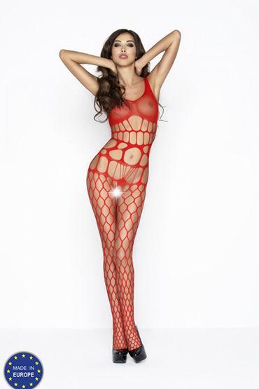 Passion Кэтсьют, красный В очень крупную сетку passion avanti scissors