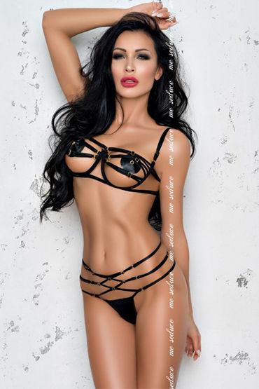 Me Seduce Renee, черный Комплект из лифа и трусиков hustler lace bikini top and thong set черный комплект из лифа и трусиков
