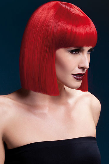 Fever Lola Wig Red Парик, стрижка боб durex invisible 12