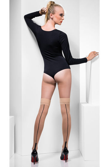 Fever Sheer Seamed Hold-Ups Чулки со стрелками fever opaque hold ups with red bows and cross applique чулки для медсестры