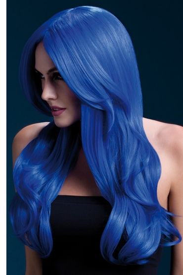 Fever Khloe Wig Neon Blue Парик, с длинными волосами long anime curly hair wig oblique bangs wig light brown
