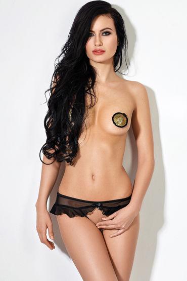 Le Frivole Завлекающие трусики с доступом, черные Украшенные нежной юбочкой пятьдесят оттенков серого вагинальный шар массажер для женщин секс игрушки