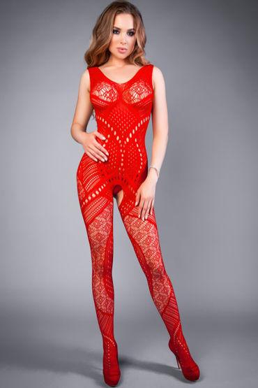 Le Frivole Impulse Боди-комбинезон, красный С комбинированным рисунком le frivole impulse боди комбинезон красный из сетки с вензелями