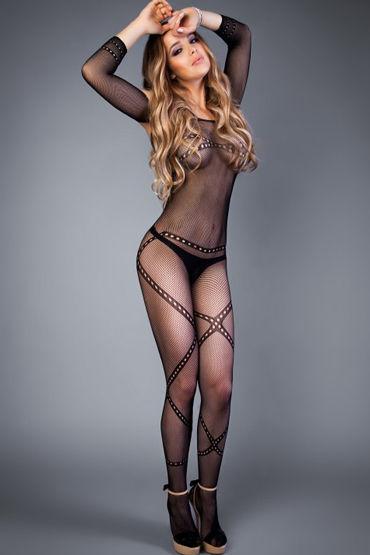 Le Frivole Impulse Боди-комбинезон, черный Декорированный перекрещивающимися линиями духи спрей женские de luxу platinum desire sonata 30 мл