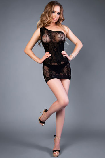Le Frivole Impulse Платье, черное С бретелью на одно плечо с подвязки ду frivole