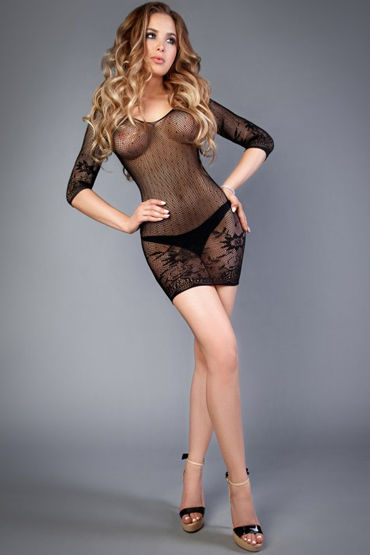 Le Frivole Impulse Платье, черное С цветочным рисунком с подвязки ду frivole