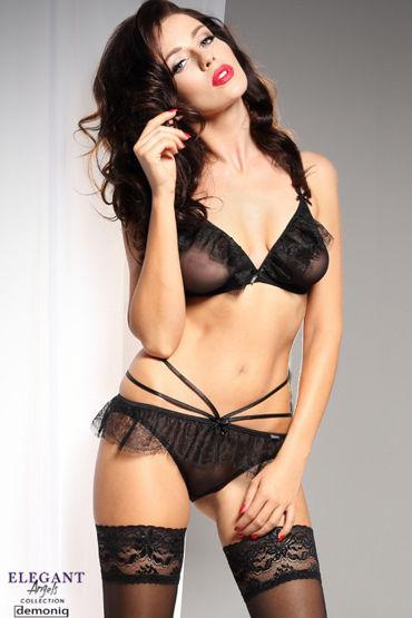Demoniq Elegant Angels Fabienne, черный Комплект с рюшами cорочки и трусики livia corsetti kathleen m