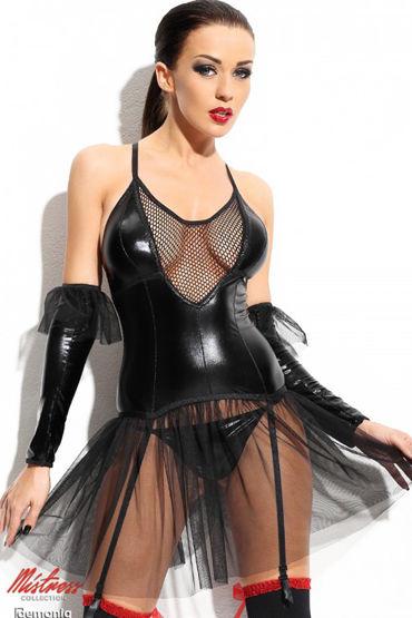 Demoniq Mistress Yvone, черное Соблазнительное платье платье demoniq yvone s m