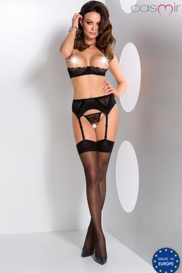 Casmir Lauren set, черный Комплект с открытой грудью и доступом casmir keith set черный комплект с поясом для чулок