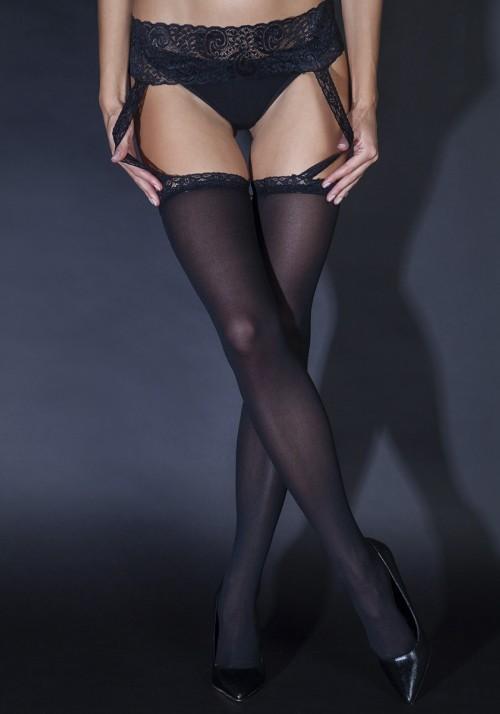 Le Frivole Sense Колготки с вырезами сплошные, черные С кружевным поясом спойлер капота 2190 гранта