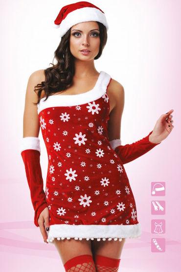 цена Le Frivole Костюм Снегурочки Платье, нарукавники, головной убор и чулки онлайн в 2017 году