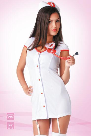 Le Frivole Доктор Любовь Коротенький халатик и чепчик игровой костюм le frivole costumes доктор любовь s m