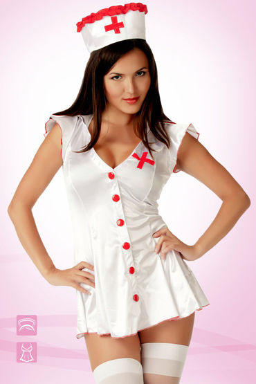 Le Frivole Медсестра Эротичный халат и головной убор daisy powerline 500