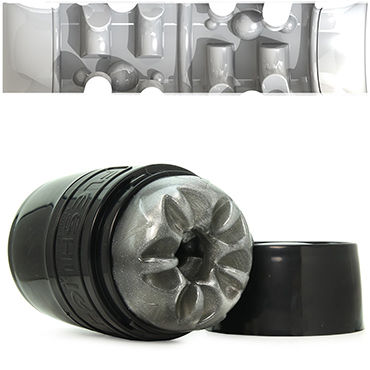 Fleshlight Quickshot Boost, серый Компактный сквозной мастурбатор анальный стимулятор small ripple plug black