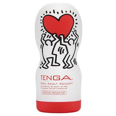 Tenga Original Vacuum Cup, Keith Haring Edition Мастурбатор, имитирующий оральные ласки, лимитированный выпуск мастурбатор tenga rolling head cup