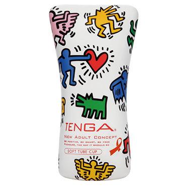 Tenga Soft Tube, Keith Haring Edition Мастурбатор в мягкой тубе, лимитированный выпуск tenga япония импортировала мужские самолеты кубок мастурбации устройства интересные продукты чтобы стимулировать тип вращения