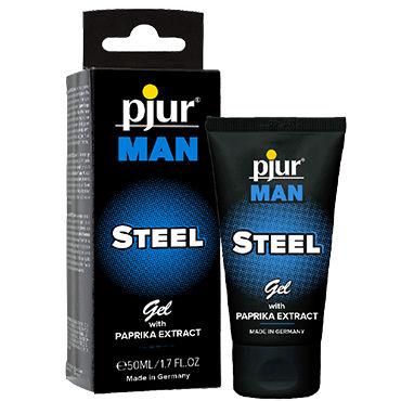 Pjur Man Steel Gel, 50 мл Гель для достижения эрекции мгновенного действия гель kama sutra pleasure balm sensations body gel мята 50 мл