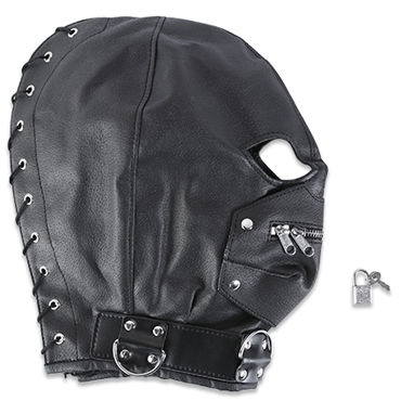Пикантные штучки БДСМ-маска С молнией комплект бдсм аксессуаров