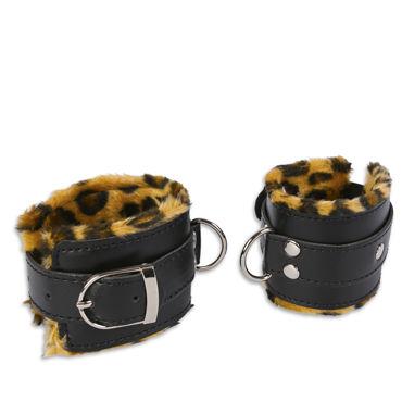 Пикантные штучки Манжеты, леопардовые С кольцами пикантные штучки стринги для страпона с системой o ring