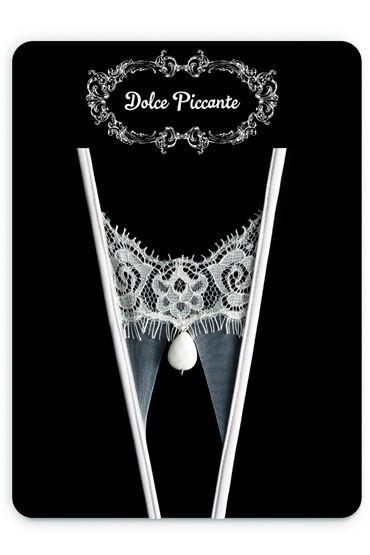 Dolce Piccante Goccia Открытые трусики Из французского кружева Экрю боумен в тайны брачной ночи